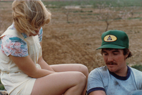 Tim & Kathy Cooper when they had just recently met. Tim is planting his first orchard.