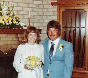 Tim & Kathy on their wedding day.
